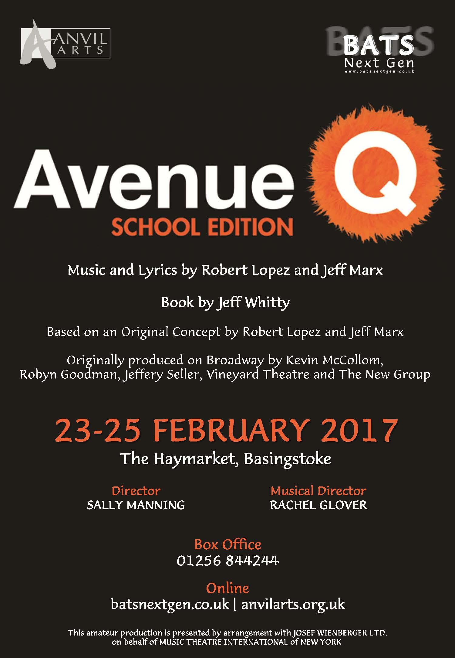Avenue Q Poster BATS NG