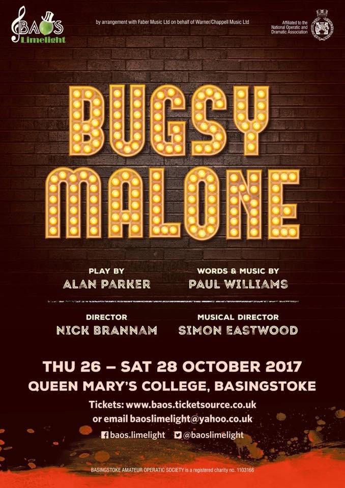 Bugsy Malone Poster BOAS